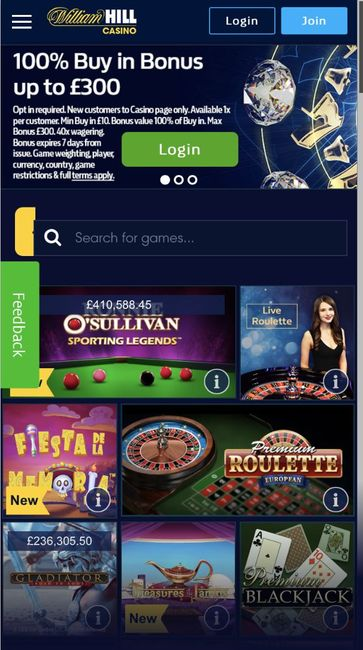 william hill casino mobile version