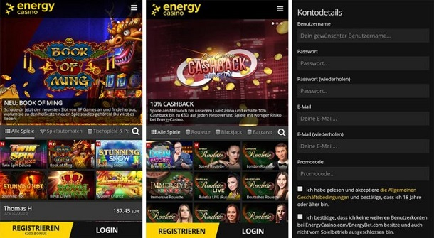EnergyCasino-mobile version