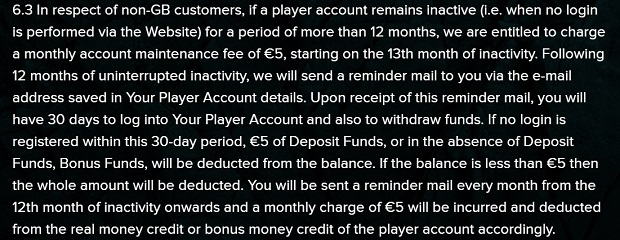Kaboo casino-inactive account