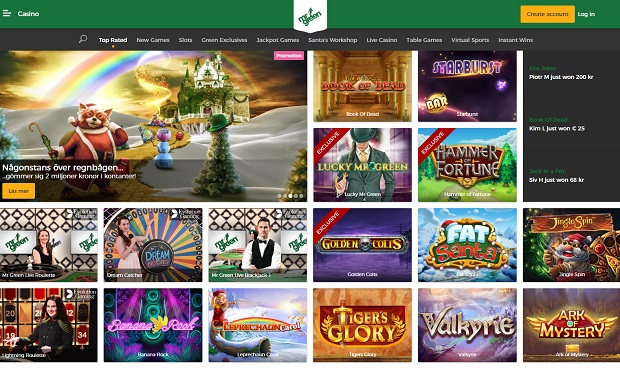 Mr Green Casino-online version