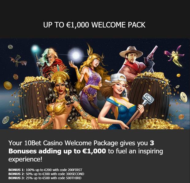 10Bet Casino-deposit bonus