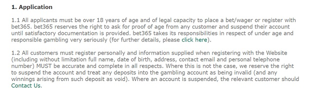 Bet365 Casino-verification