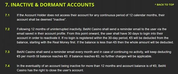 Betat Casino-inactive profile