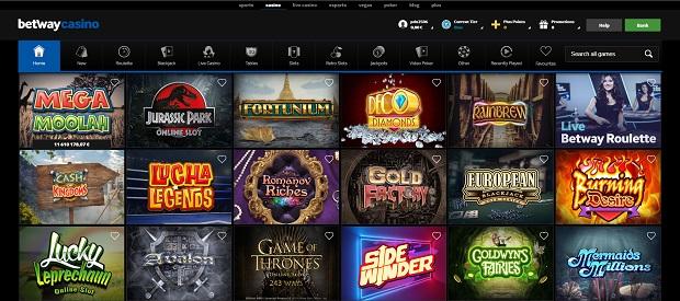 Betway Casino-online version