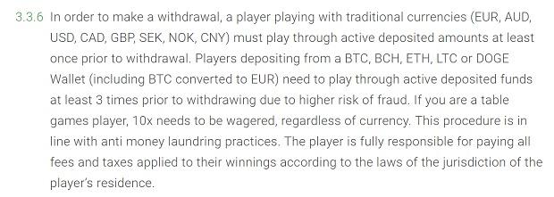 Bitstarz Casino-deposit wagering