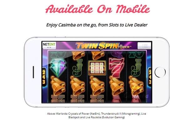 Casimba Casino-mobile version