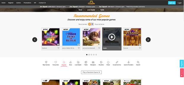 Casimba Casino-online version