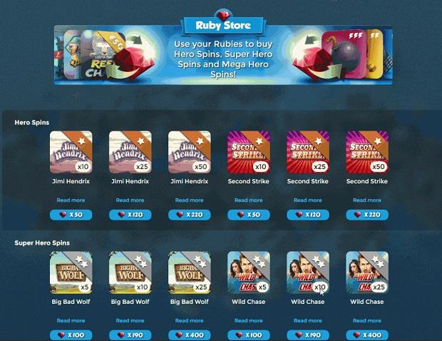 Casino Heroes-bonuses