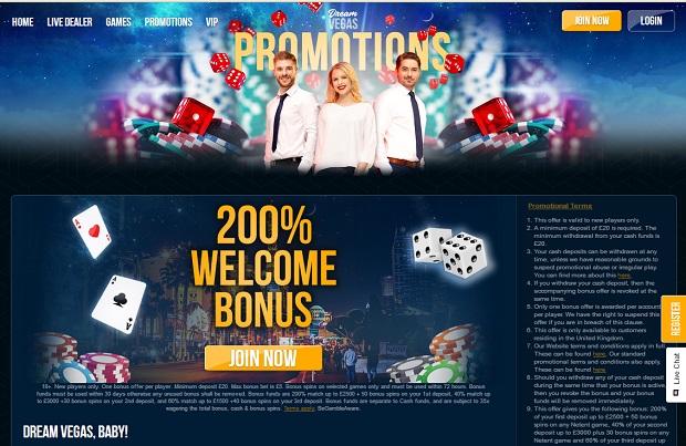 Dream Vegas-deposit bonus
