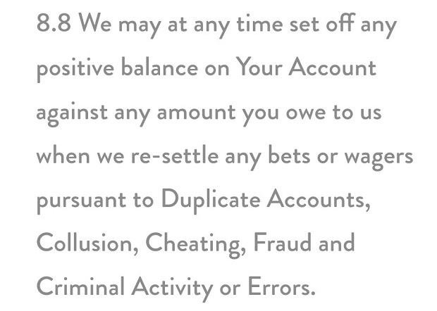 Dunder Casino-cancellation of bets and wagers