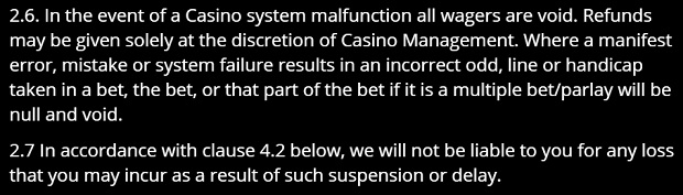 Gaming Club Casino-system errors
