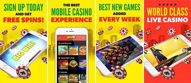 Rizk Casino-mobile app