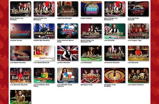 Royal Panda Casino-live dealers