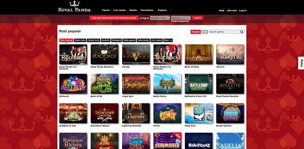 Royal Panda Casino-online version