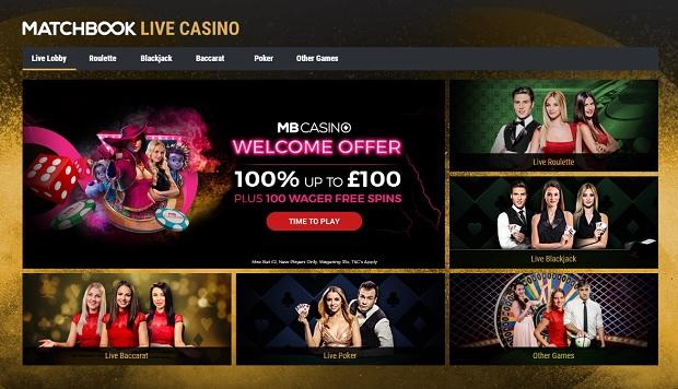 Matcbook Casino-live