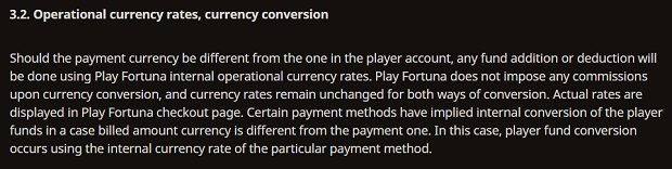 Play Fortuna-conversion