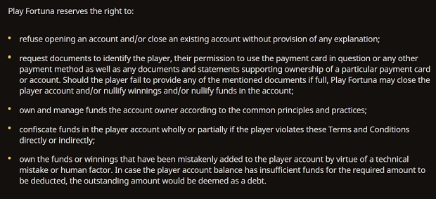 Play Fortuna-account-closing