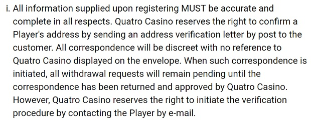 Quatro Casinо-identity-verification-e-mail