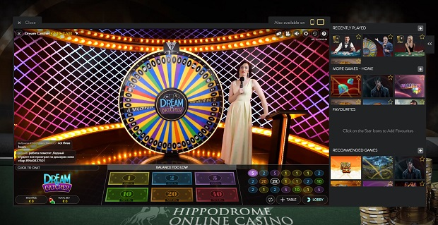 The Hippodrome Online-live-wheel