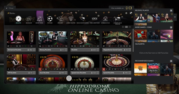 The Hippodrome Online-casino-live