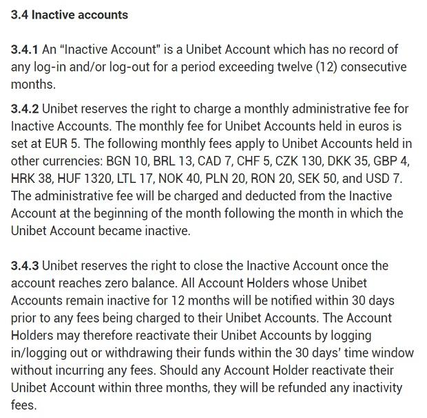 Unibet-inactive-account