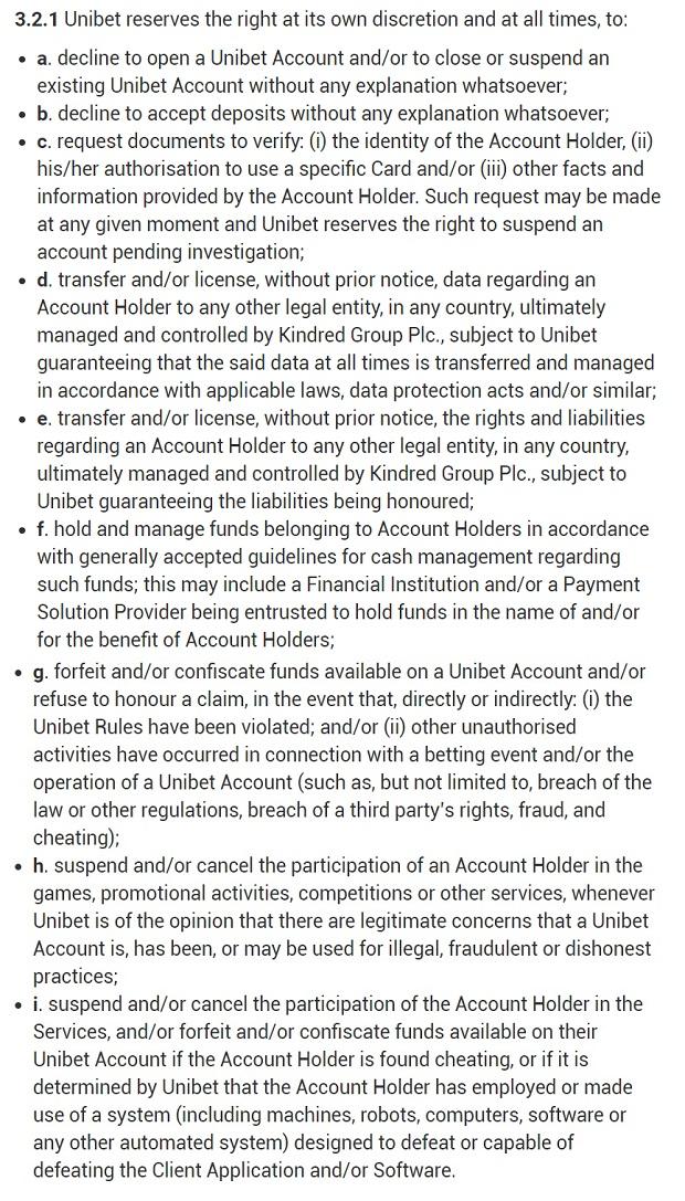 Unibet-player-account-management