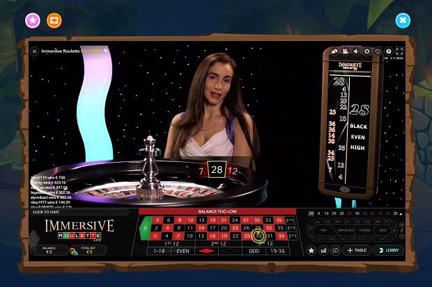 Wazamba Casino-live-roulette