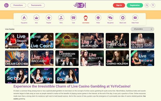 YoYoCasino-online-live-dealers