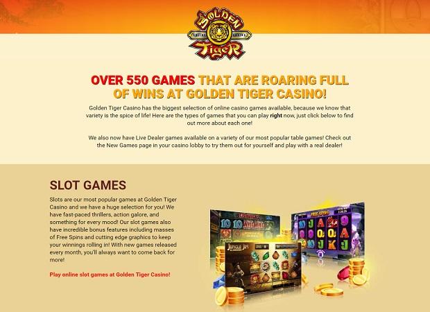 Golden Tiger Casino-online version