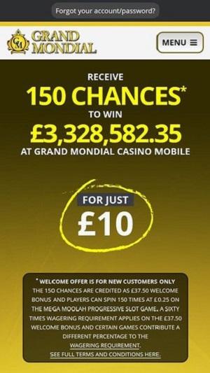 Grand Mondial Casino-mobile version