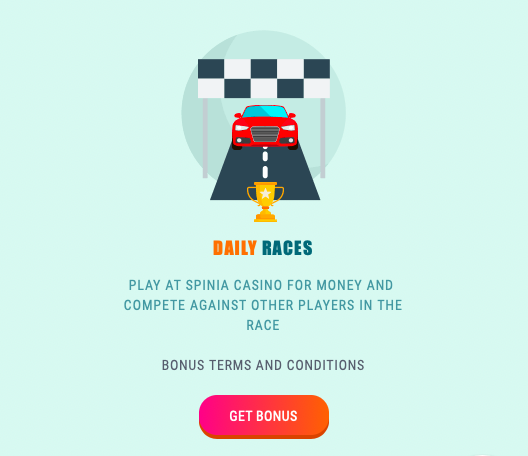 spinia daily races bonus