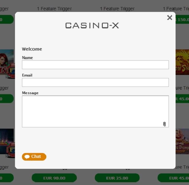 Casino-X support service