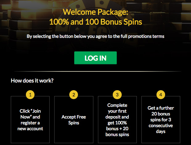 Casino how to get a bonus